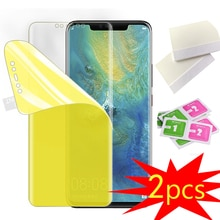 2 películas de hidrogel de TPU para Meizu Note 8, Protector de pantalla para Meizu M6 Note M5 Note M3 Note Film, cobertura completa a prueba de explosiones