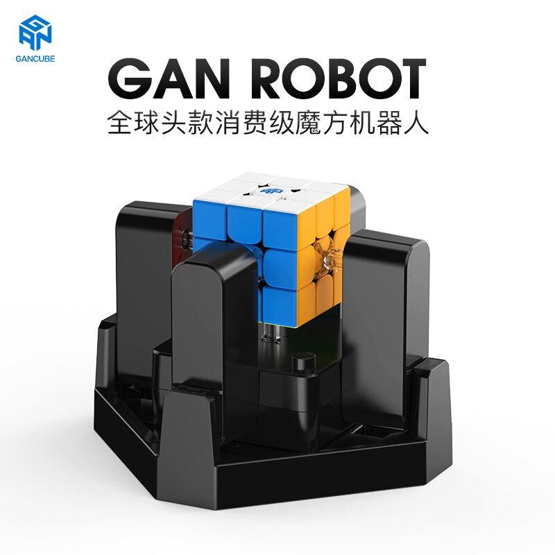 GAN Roboter, Cube Lösung Maschine Automatische Puzzle Scrambler & Löser mit Künstliche Intelligenz, Kompatibel mit GAN 356i Geschwindigkeit