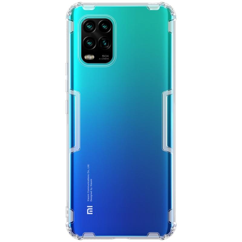 Para Xiaomi Mi 10 Lite 5G funda silicona NILLKIN naturaleza transparente funda trasera suave TPU funda para Xiaomi Mi 10 Lite
