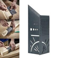Obróbka drewna Scribe Mark linia Gauge linijka kwadratowy układ Miter 45 + 90 stopni Metric Gauge pomiar Gauge narzędzia ręczne