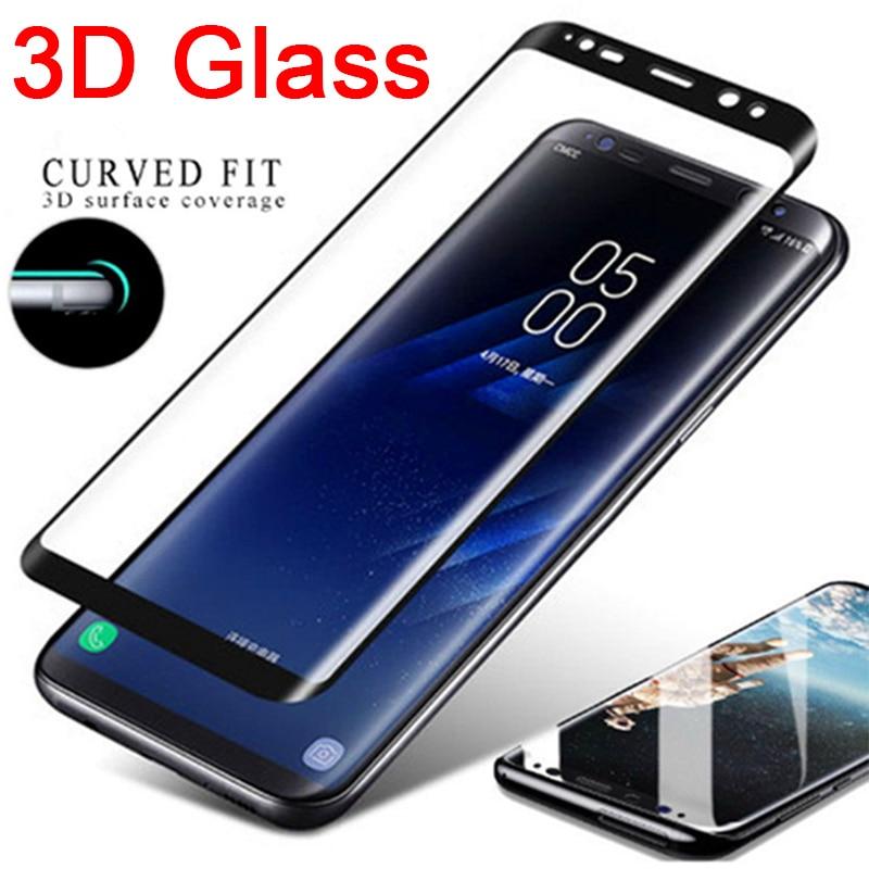 3D изогнутое закаленное стекло на Samsung Note 9 Защитное стекло для S8 S9 Plus Защита экрана для galaxy S6 S7 Edge 8