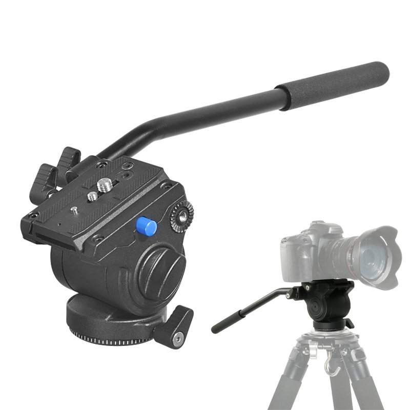 Panorâmica tripé cabeça de vídeo fluido hidráulico cabeça para tripé monopé suporte da câmera móvel slr dslr