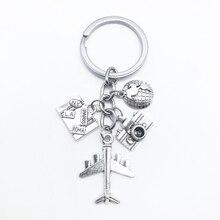 Nouveau produit Innovation terre caméra porte-clés sac à main avion porte-clés voyage commémoratif cadeau porte-clés