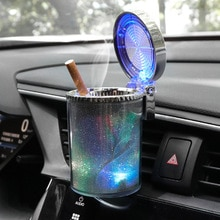 Car Ashtray With Led Light Cigarette Cigar Ashtray Container Ashtray Gas Bottle Smoke Cup Holder Sto