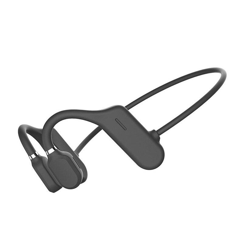 العظام التوصيل سماعات Bluetooth5.0 سماعات لاسلكية لا سماعة أذن داخلية مقاوم للماء سماعات رياضة 120mah قدرة البطارية