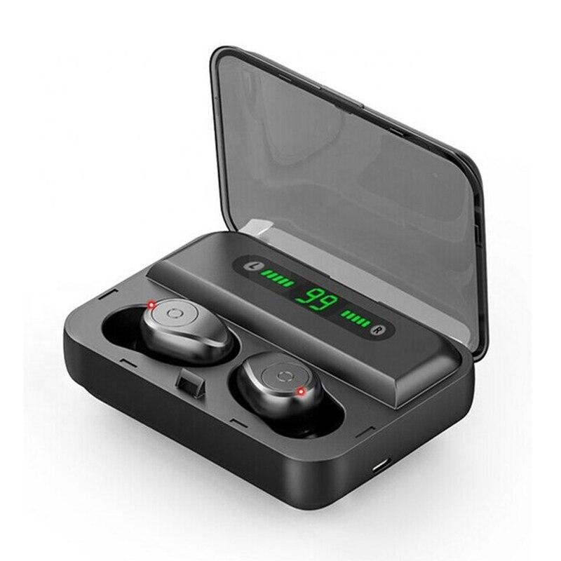 Bluetooths Wireless TWS Earbuds with 1200 MAh Powerbank Waterproof IP7