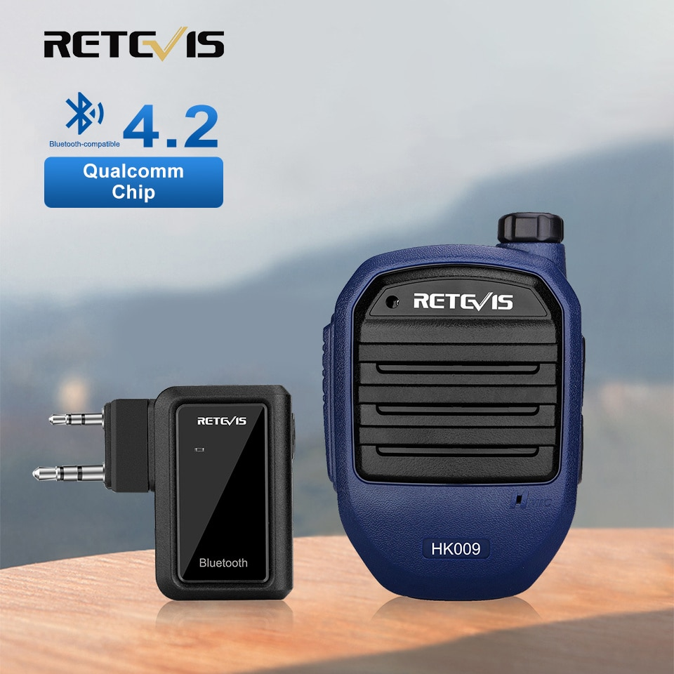 k8 15w wireless bluetooth microphone with speaker Retevis HK009 Walkie Talkie Wireless Bluetooth-compatible Handheld Speaker Microphone with Adapter PTT For Kenwood Baofeng UV5R