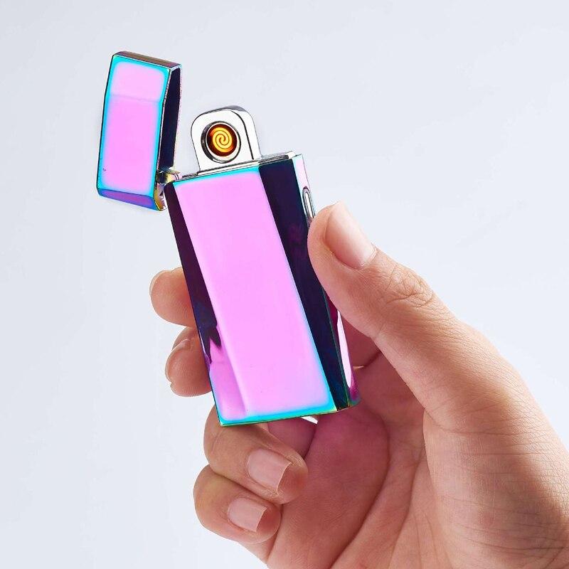 Mini mecheros de carga USB Turbo de tungsteno Delgado, cigarrillos táctiles sin llama, Encendedores Recargables Electrico, proveedores de Dropship