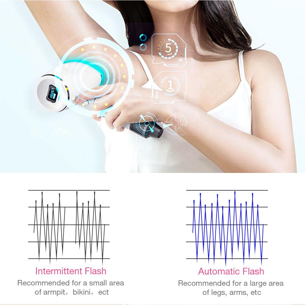 300000 Pulsed IPL Painless Electric Epilator Laser Permanent Hair Removal Ice Cold Laser Epilator Photoepilator Trimmer enlarge