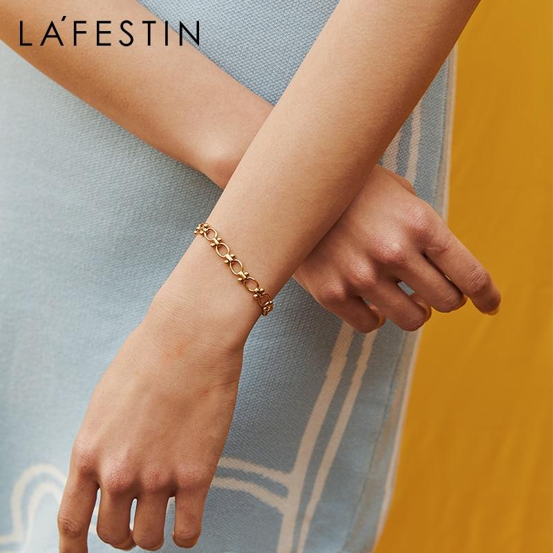 LA FESTIN Original limited edition fashion bracelet ins niche design 2021 new retro jewelry simple personality girl hand ornamen