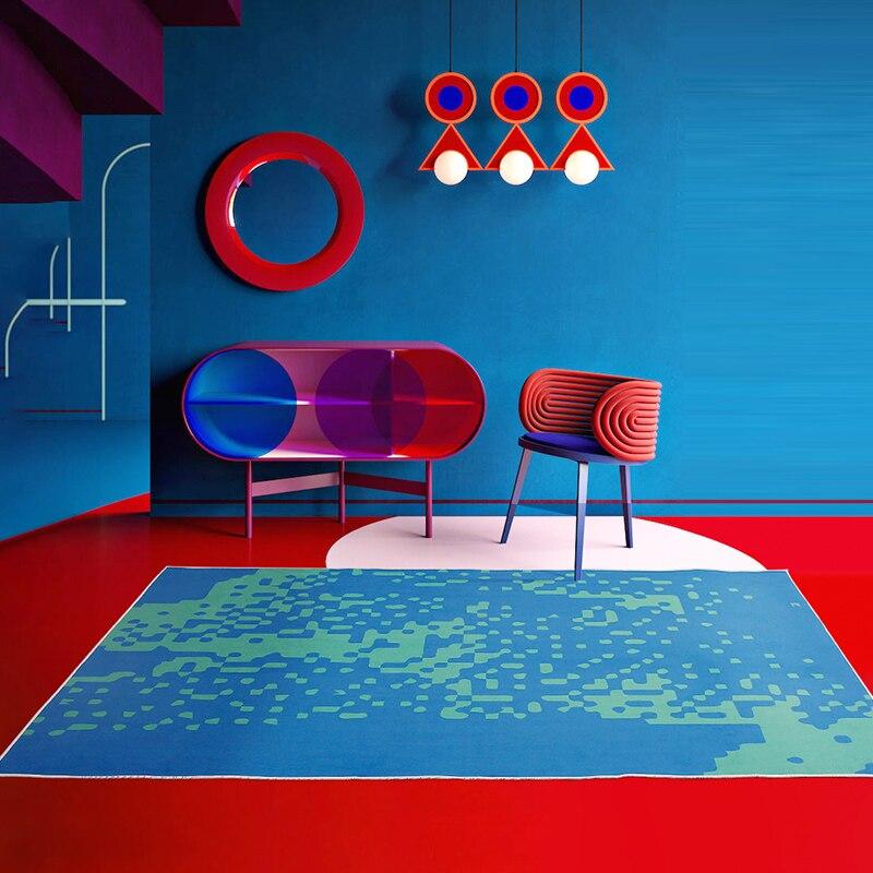 سجادة فنية حديثة ديكور منزلي سجاد إسكندنافي تجريد لغرفة المعيشة الحمام سجادة أرضية غير قابلة للانزلاق غرفة نوم سجاد ناعم كبير