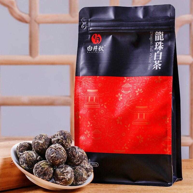 Fuding الشاي الصيني الأبيض التنين اللؤلؤ باي مو دان المرأة الأبيض الشاي الصيني فضفاض ورقة مع نكهة الأزهار 200g