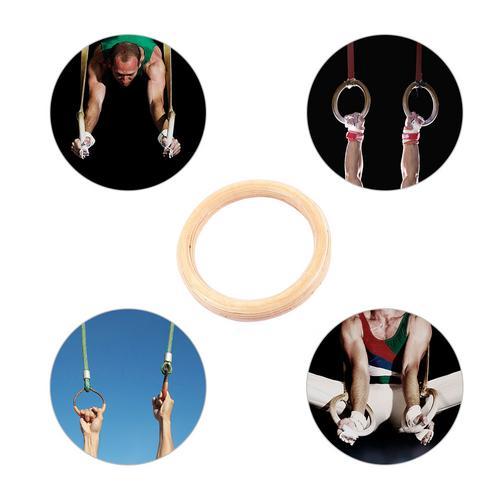 1 Uds anillos para ejercicio gimnasia abedul anillo de formación 28 MM 32 MM anillos (cuerda de elevación no incluida)