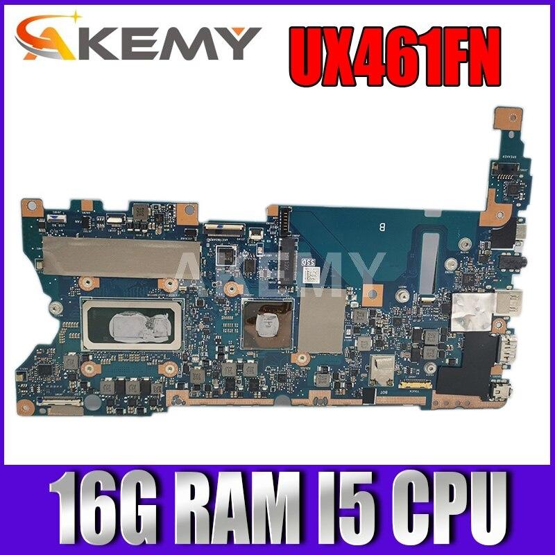 UX461FN اللوحة الأم لأسوس UX461FN UX461F الكمبيوتر المحمول لوحة رئيسية mianboard اختبار ث/ (V2G) وحدة معالجة الرسومات 16G/I5-8265U