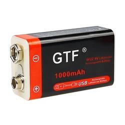 Novo 9 v 1000mah li-ion bateria recarregável micro usb baterias de lítio 9 v para multímetro microfone brinquedo controle remoto ktv uso
