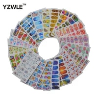 20 sheets diy nail art decals water transfer printing stickers for nails