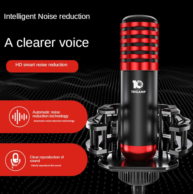 Professional Stream Microphone Condenser For Iphone PC Cell Laptop Cardioid Studio Recording Vocals Voice Over,YouTube Gaming enlarge