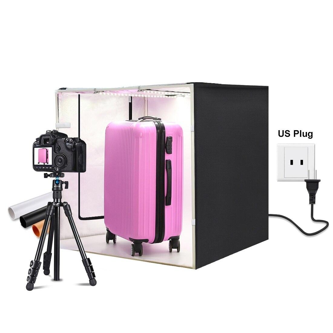 صندوق إضاءة محمول 80 سنتيمتر/31.5 بوصة ، خيمة تصوير قابلة للطي مع 3 ألوان خلفية ، مجموعة إضاءة للتصوير الفوتوغرافي
