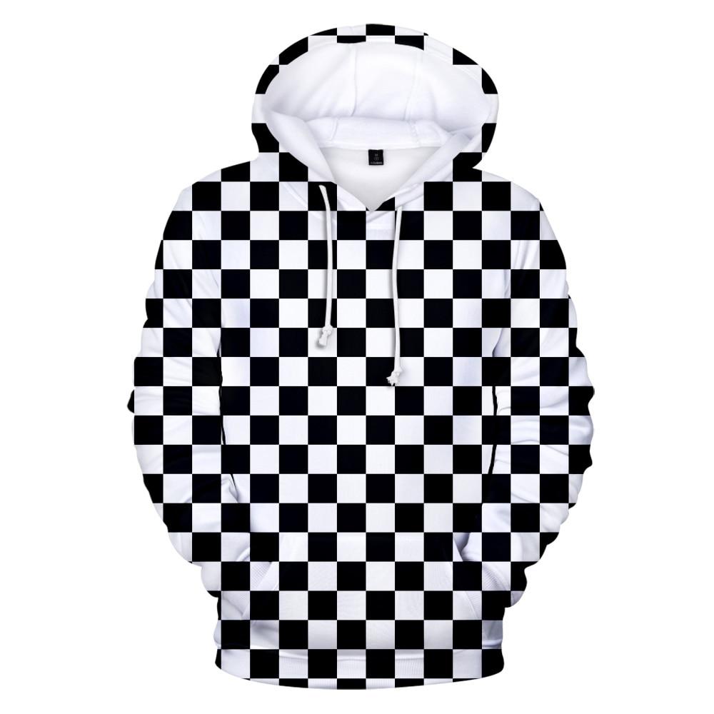 Толстовка с капюшоном для мужчин и женщин, 3d-принт, рассекающий демонов, киметасу, no Yaiba, черная белая клетчатая кофта с капюшоном