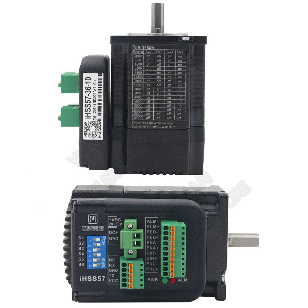 JMC المتكاملة NEMA23 57 مللي متر 1Nm 36VDC 1500rpm 2 المرحلة DSP الهجين مغلقة حلقة سائق المحرك التشفير الكل في واحد سهلة أجهزة