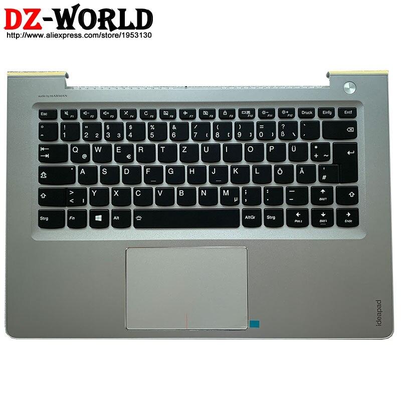 Carcasa C, Cubierta superior con reposamanos, teclado alemán retroiluminado, panel táctil para Lenovo Ideapad 510s-14 310S-14 IKB ISK, portátil 5CB0L45283