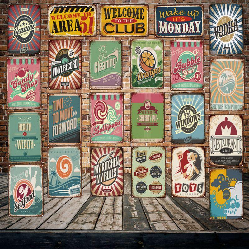 [Mike86] CLUB MONDAY 51 tienda de dulces área tienda cartel de chapa Retro voka Poster Art 20*30 CM LT-1918