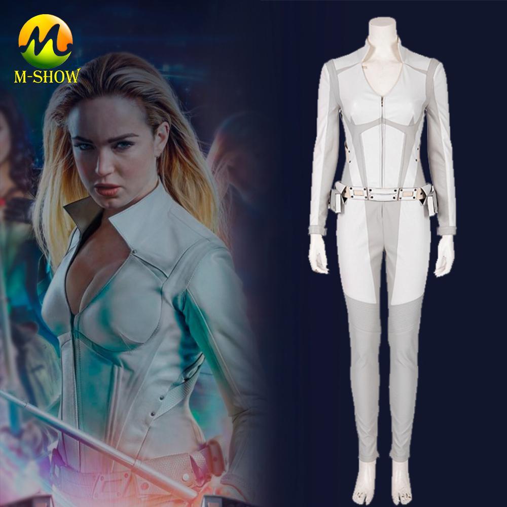 Disfraz de Cosplay canario blanco de DC, disfraz de Legends of Tomorrow, Cosplay para mujer de Halloween
