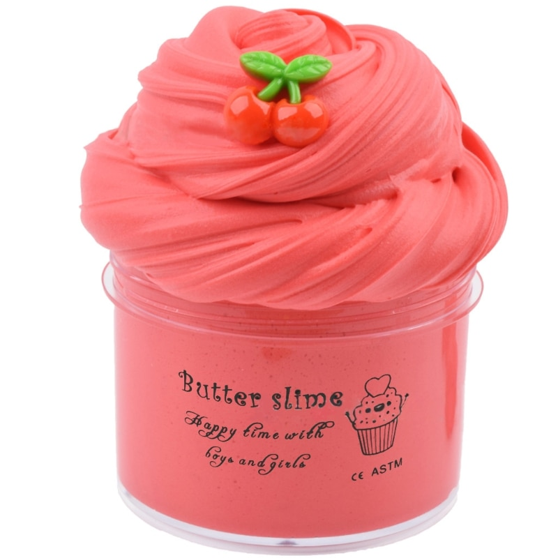 6Pcs Butter Slime with Candy Slime Watermelon Slime and Pineapple Slime Super Soft Birthday Gifts Stress Relief Toys enlarge