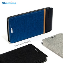Business Canvas Case For Tecno Spark 8 Case Cover Flip Leather Soft Silicone Kickstand Book Cover Fo