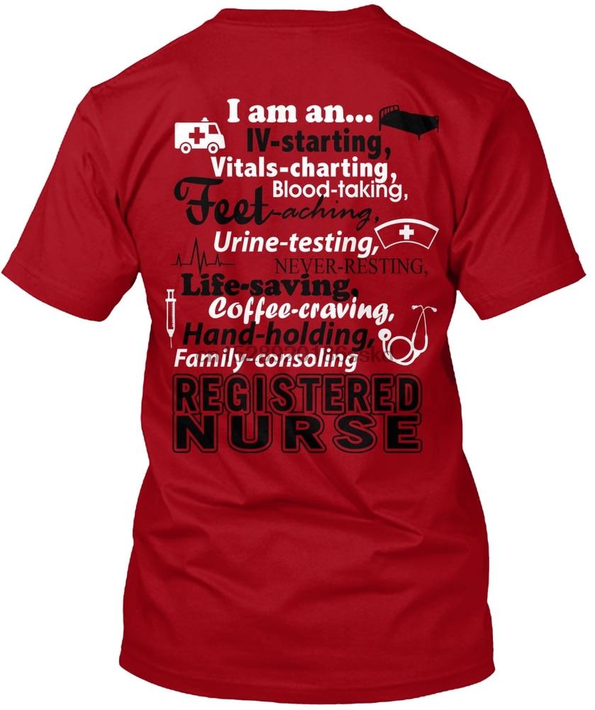 Men t shirt I am a Registered Nurse T-Shirt! tshirts Women t-shirt