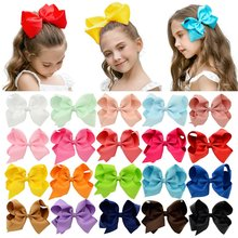 1Pc 40Colors 6'' Solid Colors Grosgrain Ribbon Hair Clips For Cute Girls Large Hairpins Boutique Barrettes Kids Hair Accessories