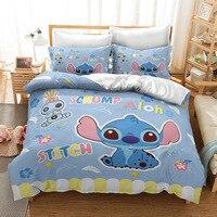 Stitch Bedding Set Cartoon Bedspread Single Twin Full Queen King Size Bedclothes Children's Boy Bedroom Bed Set