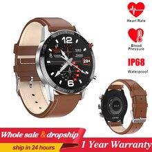 New L13 SmartWatch Men ECG+PPG Waterproof Bluetooth Call Blood Pressure Fashion Wristbands Bracelet Fitness Smart Watch PK L8 L7