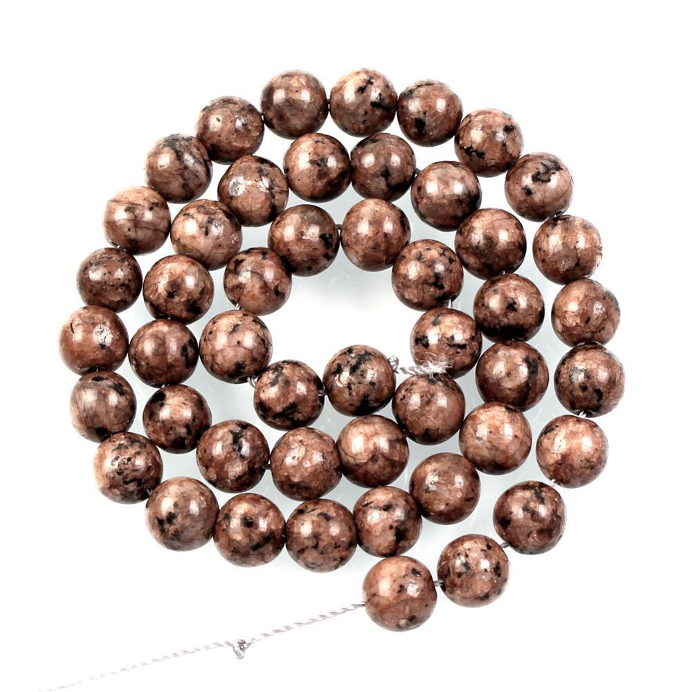 Piedra Natural marrón Mezcla Color negro raya alabastro encanto cuentas sueltas para la fabricación de joyas costura pulsera DIY hilo 4-12MM
