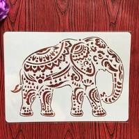 a4 29 21cm creative animal elephant diy stencil wall painting scrapbook coloring photo album decorative paper card template
