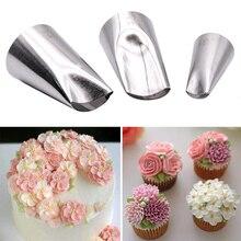 Boquillas para glaseado de pétalos de flores 3 uds., boquillas para cupcakes para decorar pasteles, boquillas de crisantemo de peonía, Gadget de cocina, accesorios para hornear