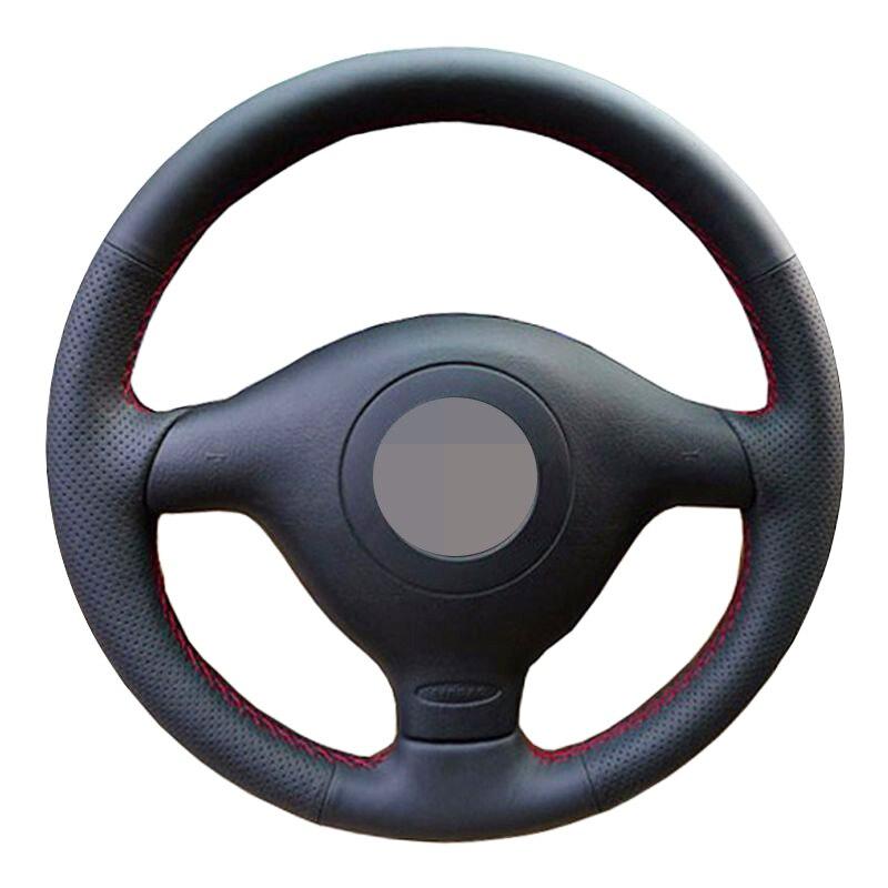 Funda negra para volante Cuero artificial suave para Volkswagen VW Golf 4 Mk4 Old VW Passat B5