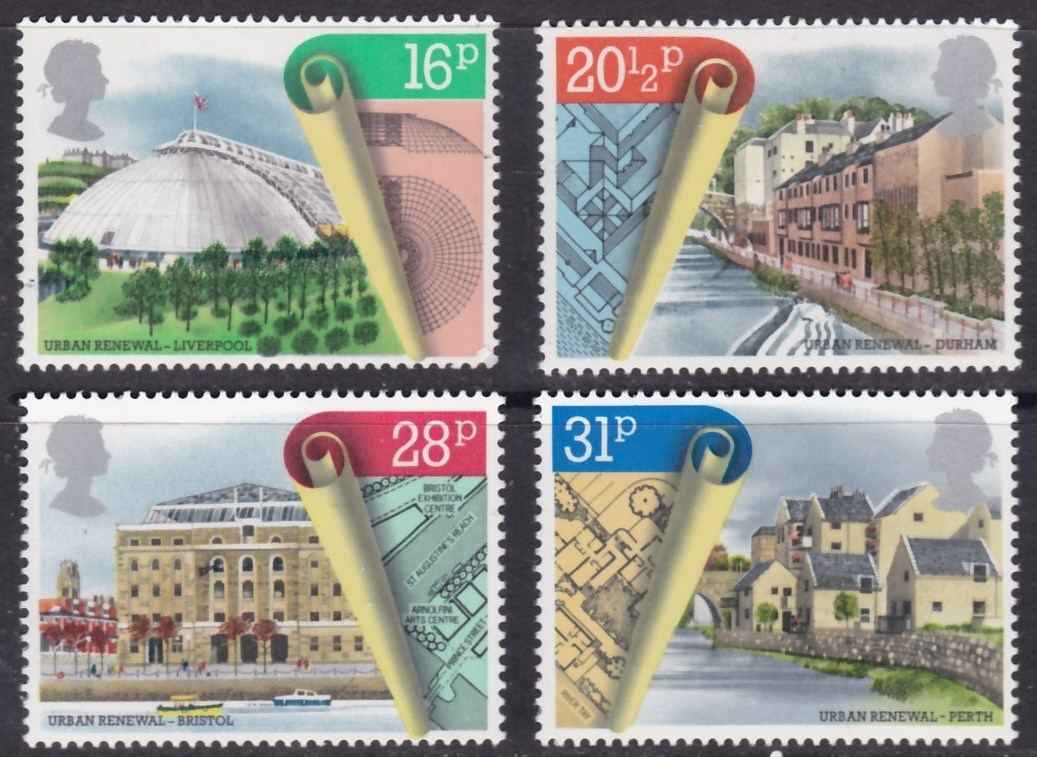 4 unids/set Nuevo Reino Unido GB Inglaterra poste británico sello 1984 Real Instituto de Arquitectos Reino Unido sellos MNH