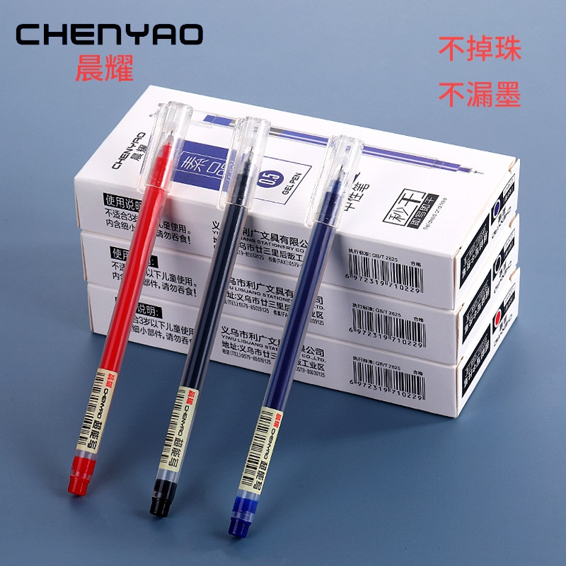 Large-capacity Gel Pen 1000pcs Is 100boxes Red, Blue and Black 0.5mm Syringe Water-based Gel Pen Office Signature Pen Wholesale