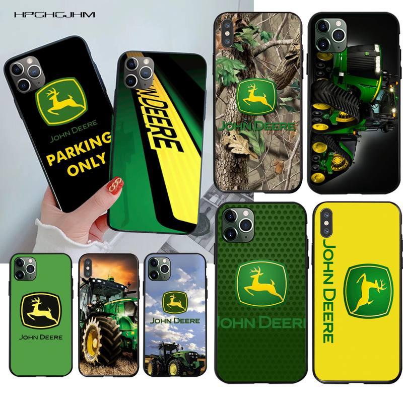 HPCHCJHM john deere Smart Soft black Phone Case for iPhone 11 pro XS MAX 8 7 6 6S Plus X 5S SE 2020 XR case