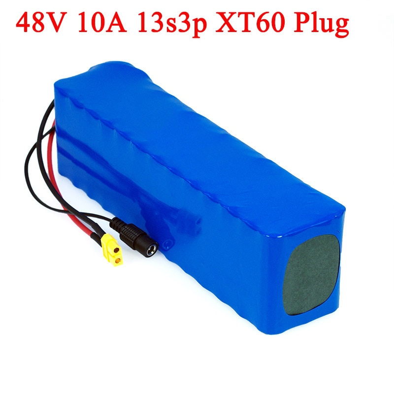 LXIAOYU-بطارية ليثيوم أيون ، 48 فولت ، 10 أمبير ، 1000 واط ، 13S3P ، للدراجة الكهربائية والسكوتر 54.6 فولت ، مع BMS