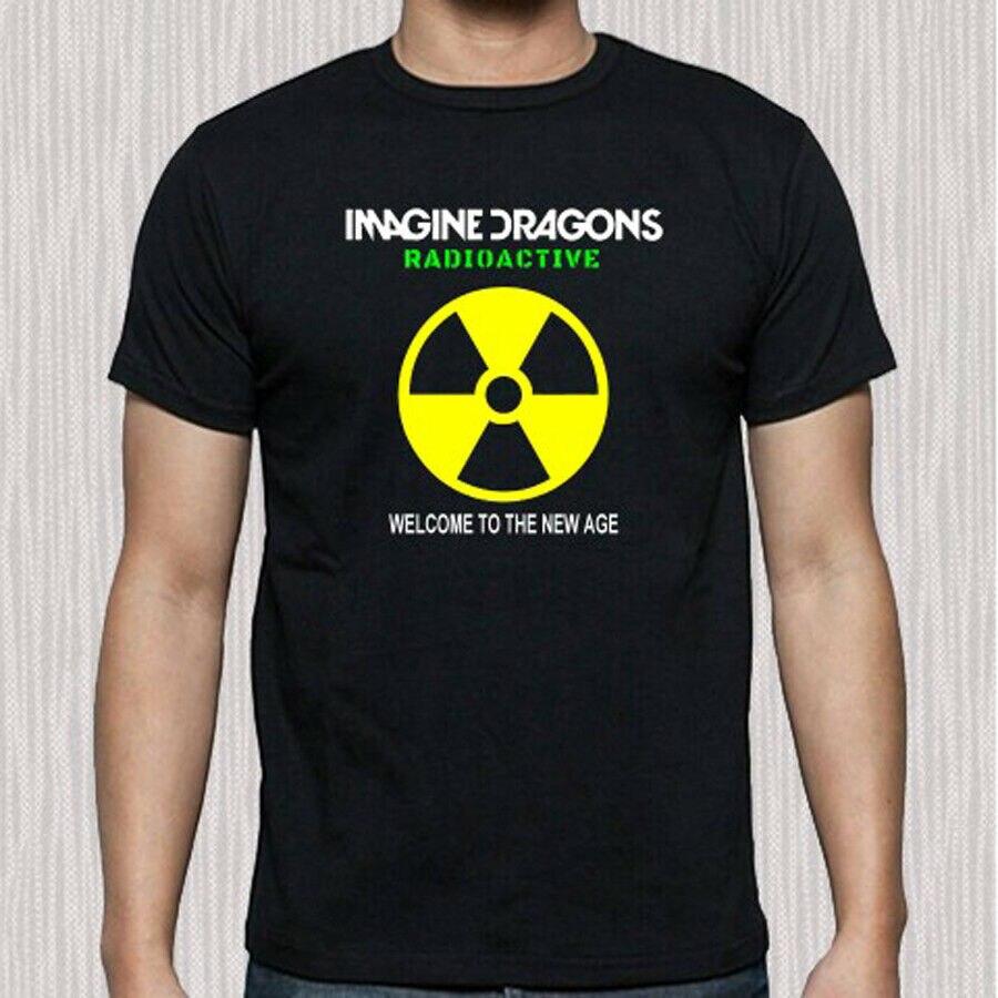 Nova imagine dragons radioativo álbum capa masculina preto t camisa tamanho s a 3xl