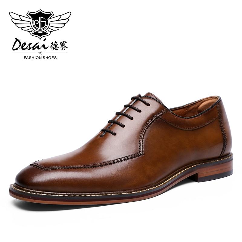 Desai-أحذية جلدية أصلية للرجال ، أحذية زفاف رسمية ، أحذية إيطالية غير رسمية كبيرة الحجم ، ناعمة ، 2020