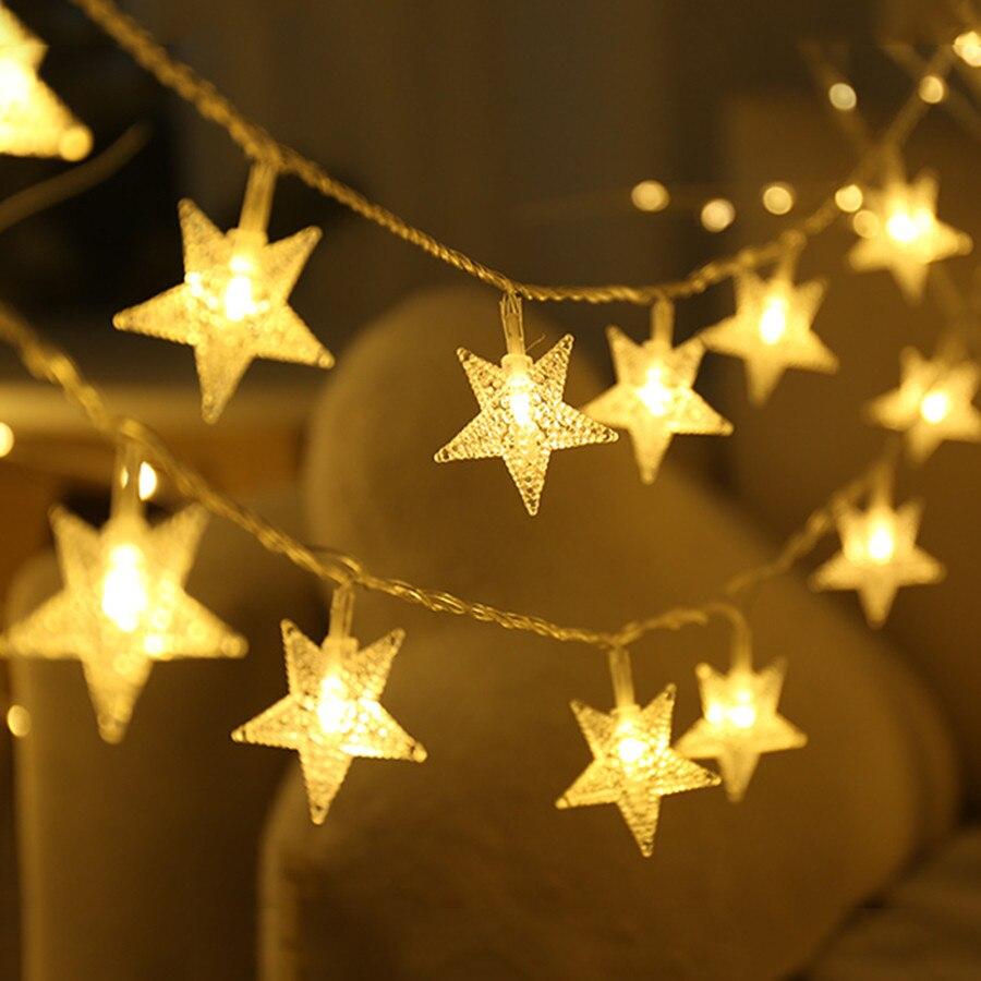 Thrisdar flocons de neige étoile guirlande LED de noël lumière 10/20m/30M fée boule chaîne guirlande lumineuse fête mariage étoile fée lumière