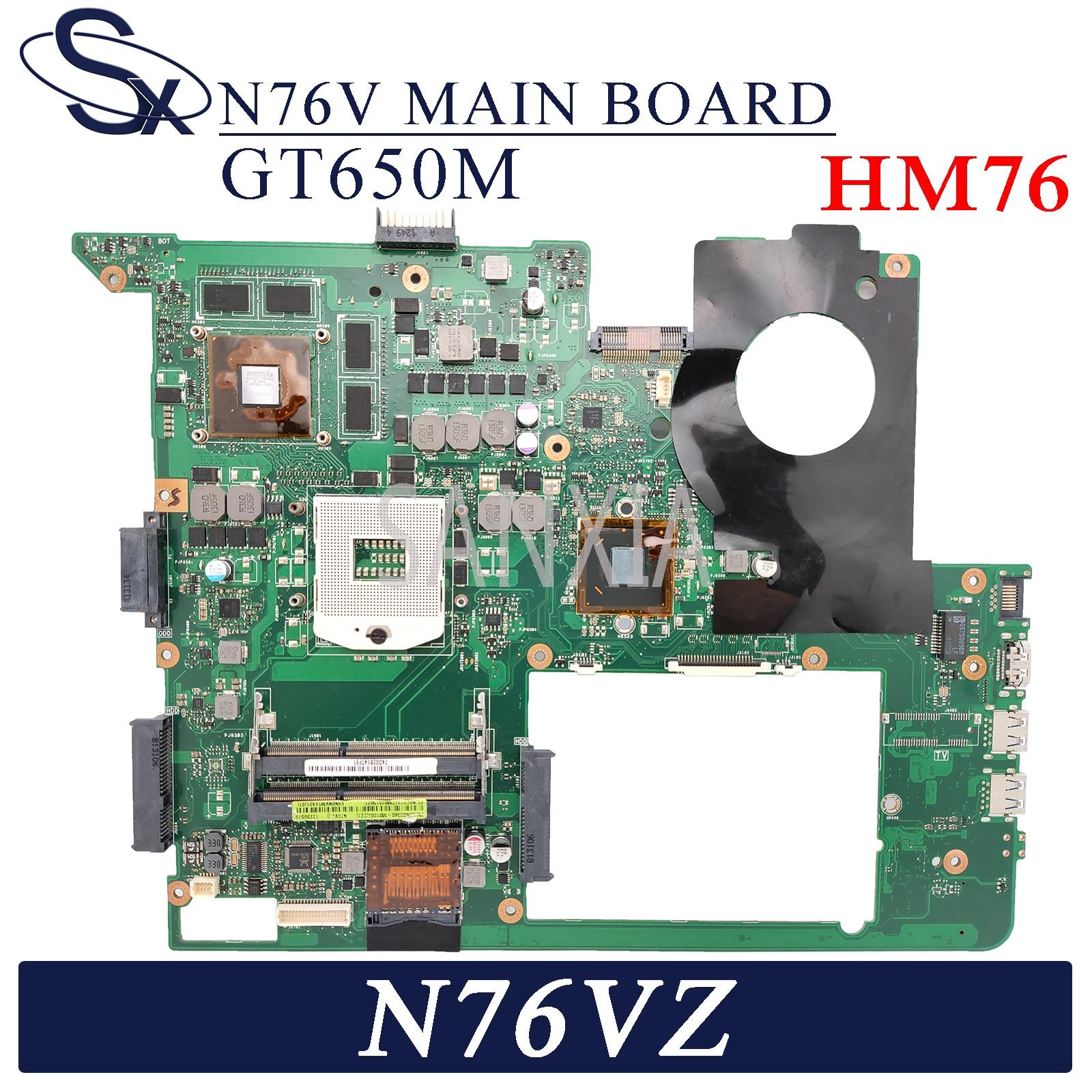 KEFU N76V Laptop motherboard for ASUS N76VZ N76VJ N76VM N76VB original mainboard HM76 GT650M