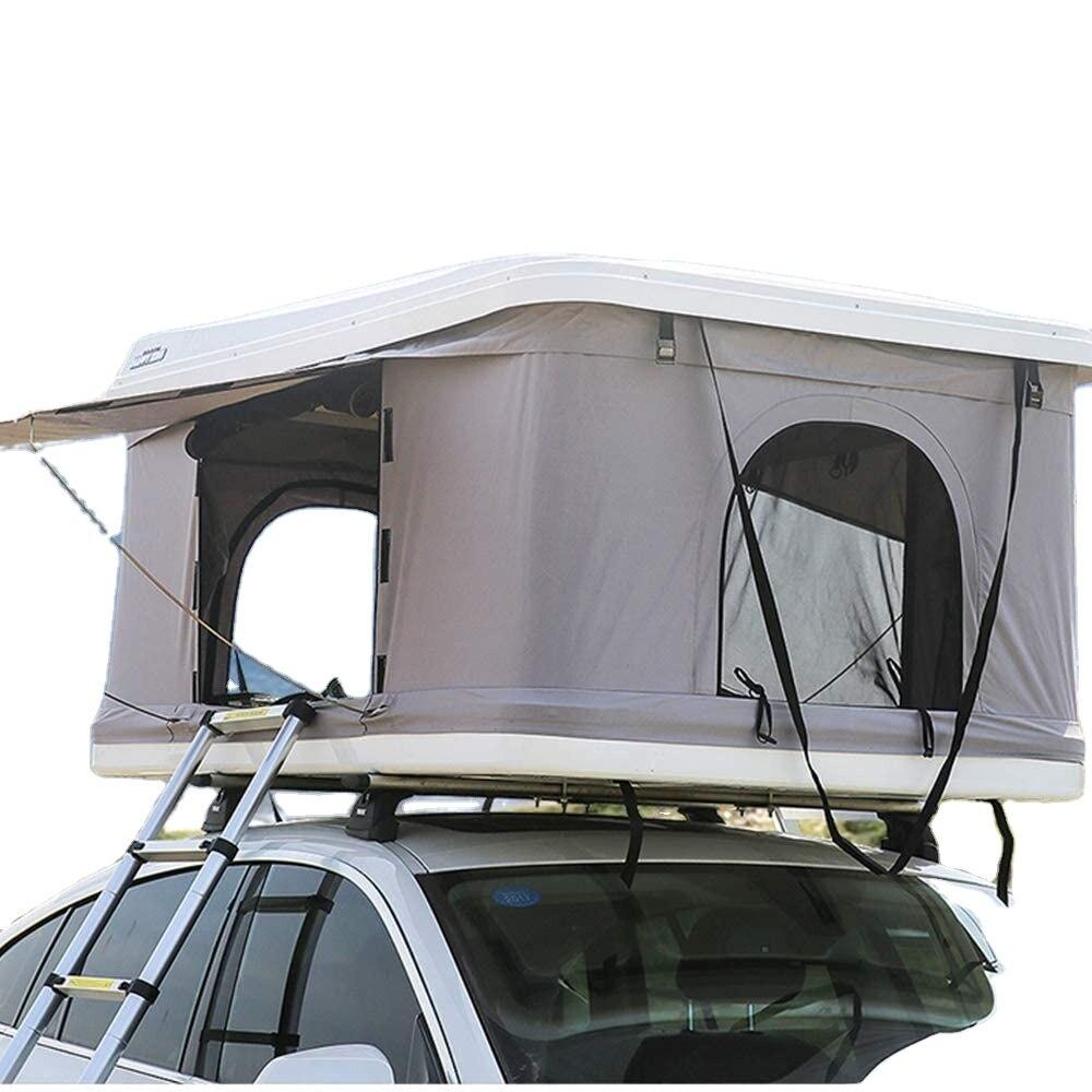 Woqi 2021 سيارة عالية الجودة خيمة للسطح العلوي من المنزل في الهواء الطلق التخييم قشرة صلبة المنبثقة تظليل سقف السيارة