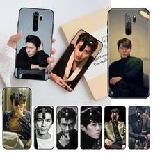 YJZFDYRM Kpop Star hyun bin noir coque de téléphone coque pour Redmi Note 9 8 8T 8A 7 6 6A Go Pro Max Redmi 9 K20