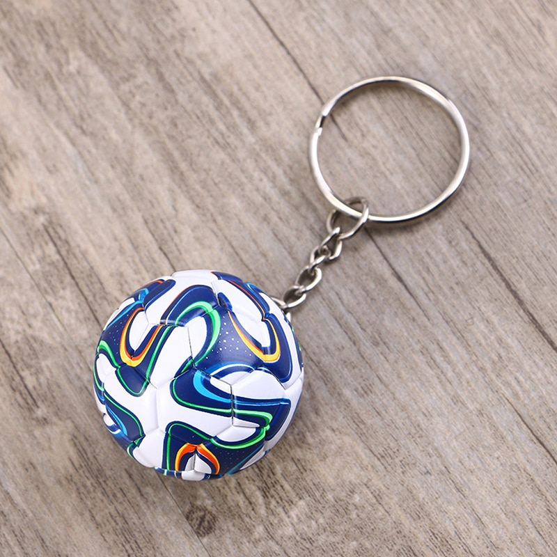 Soccer Ball Keychain Key Ring Soccer Sports Fan Party Souvenir World Cup Favor Club Handbag Phone Pendant Football Fans Gift