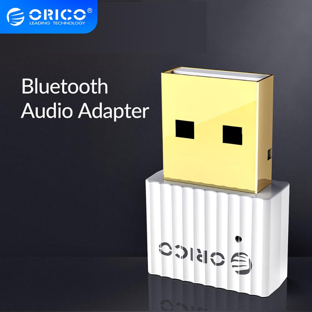 ORICO USB Bluetooth 4,2 transmisor inalámbrico EDR 2,4 GHz Aux Audio Bluetooth adaptador con cadena colgante para ordenador PC Tablet
