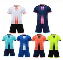 Custom Adult &kid Football Jerseys, Boys/ girls Soccer shirts Sets Short Sleeve Kids Football Uniforms Soccer Tracksuit Jersey